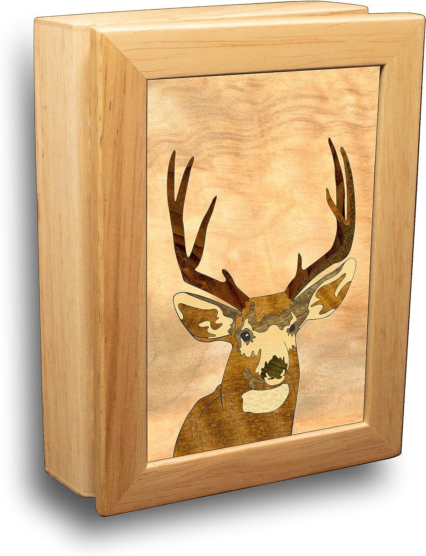 MarqART Deer Wood Art Fort Worth Mall Gift Trinket Over item handling ☆ - Handmad Jewelry Box Boxes