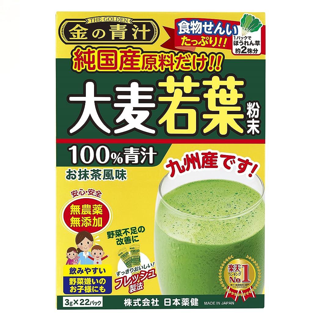 評決免疫する意味する日本薬健 金の青汁 純国産大麦若葉 22包