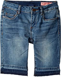 Blank NYC Kids - Bermuda Shorts with Raw Hem Detail in Past Curfew (Big Kids)