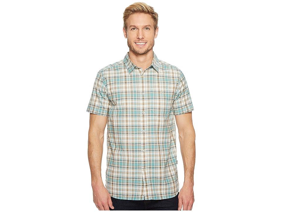 The North Face Short Sleeve Baker Shirt (Bristol Blue Plaid) Men
