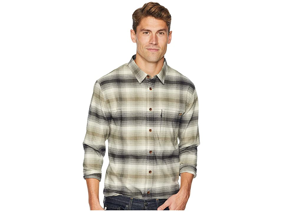 Quiksilver Waterman Thermo Hyper Flannel Long Sleeve Shirt (Rainy Day) Men
