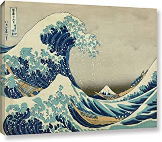 ArtWall Katsushika Hokusai 'The Great Wave Off Kanagawa' Gallery Wrapped Canvas Artwork, 36 by 48-Inch