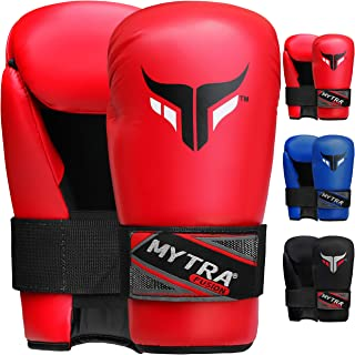Mytra Fusion Semi Contact Boxing Gloves for Martial Arts MMA Muay Thai Training Punching Sparring