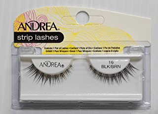 Andrea Flase Strip Eye Lashes - 16 Black Brown, Pack of 1