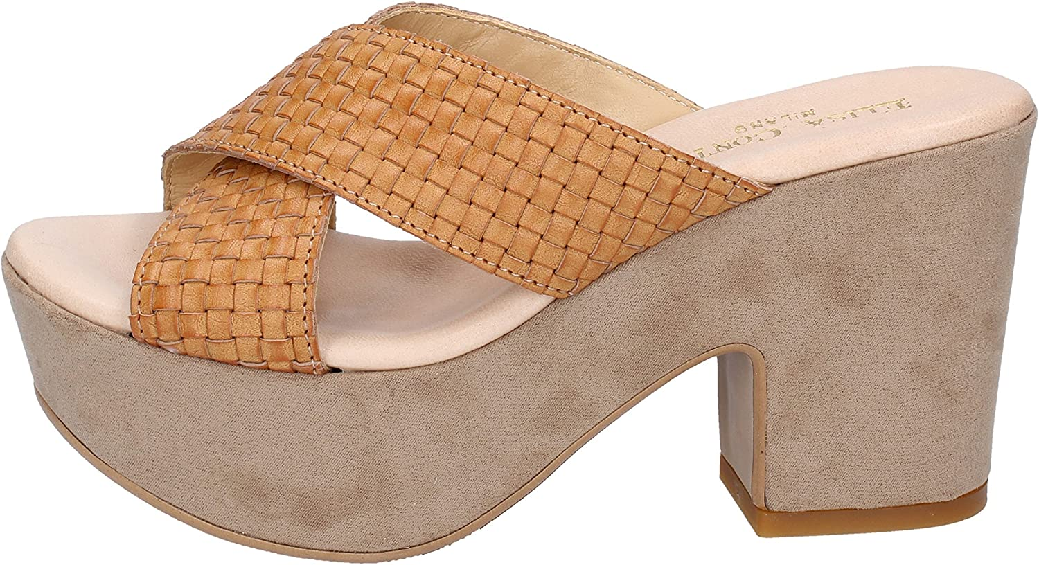 ELISA CONTE Sandals Womens Leather Brown