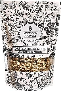 Monsoon Harvest Toasted Millet Muesli, Cranberry & Almond, 250g