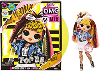 LOL Surprise OMG Remix Pop B.B. Fashion Doll, Plays Music, with Extra Outfit and 25 Surprises Including Shoes, Hair Brush,...