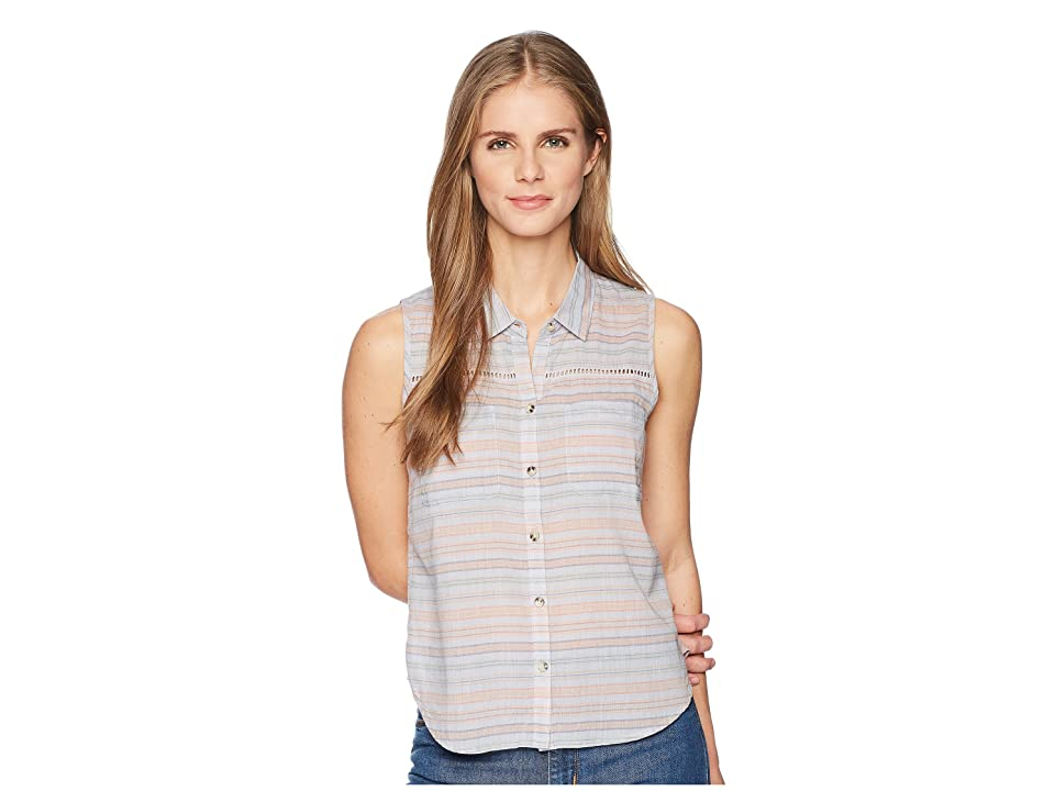 Toad&Co Airbrush Sleeveless Deco Shirt (Lilac Stripe) Women