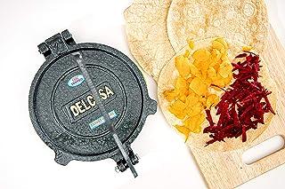 Delcasa Mexican Style Tortilla Press for Making Homemade Tortillas & Tacos PreSeasoned Cast Iron Tortilla Press/Pataconera...