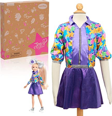 JoJo Siwa Fashion Doll and Dress Up Set, Size 4-6X, Kids Pretend Play Costume, Multi-Color, Amazon Exclusive by Just Play