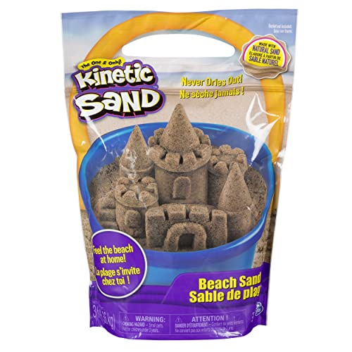 Kinetic Sand, 3lbs Beach Sand for Ages 3 and Up (Packaging May Vary)