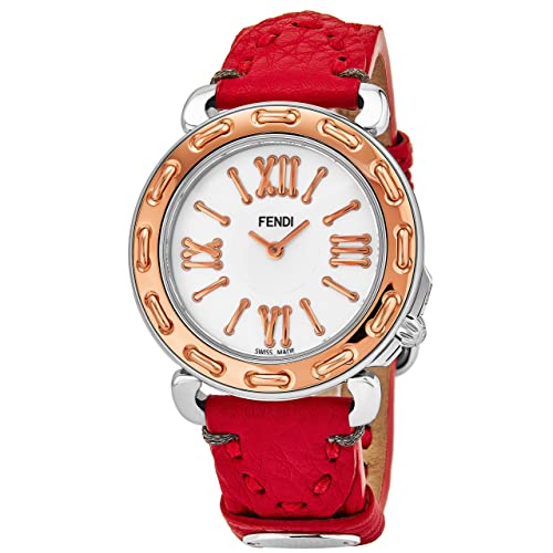 e9c9804797b Fendi Selleria Womens Stainless Steel Fashion Swiss Watch - Mother of Pearl  Face Rose Gold Bezel