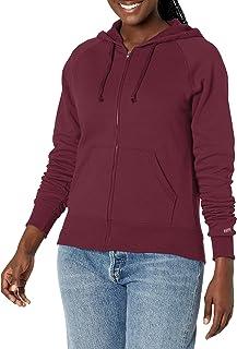 SOFFE Women's Rugby Zip Hoodie Hooded Sweatshirt