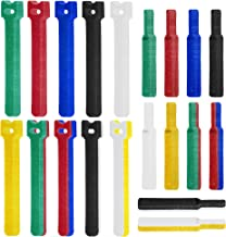 "LuBanSir Cable Ties Reusable Fastening Tapes, 120 Pcs ( 60 pcs 8"" and 60 pcs 4"") Nylon Cord Ties for Wire Cable Management, Assorted Colors"