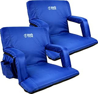 Brawntide Wide Stadium Seat Chair – Extra Thick Padding, Reclining Back, Bleacher..
