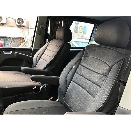 Pok Ter Bus Maßgefertigter Sitzbezug Modellspezifischer Sitzbezug Fahrersitz Beifahrersitz Für T5 Multivan Super Qualität Stoffart Vip In Diesem Angebot Schwarz Muster Im Foto Auto
