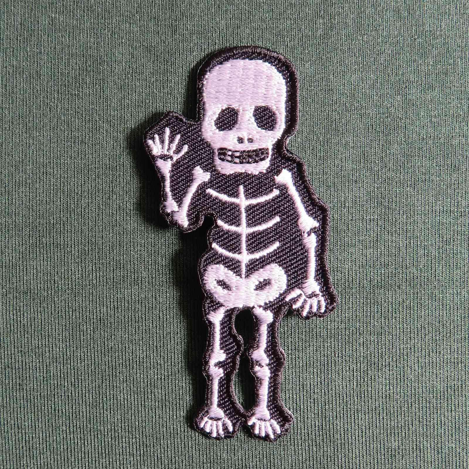 Freak Scene parche - esqueleto - negro-blanco: Amazon.es: Hogar
