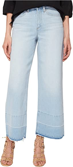 Five-Pocket Released Hem Wide Leg Jeans in Corsica Wash