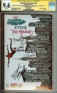 CGC 9.6 Amazing Spider-Man #700 Skyline Variant Signed Stan Lee John Romita Todd McFarlane Joe Sinnott Chris Bachelo Jim Shooter