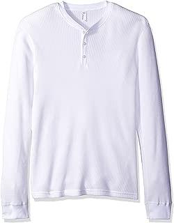 American Apparel Men's Waffle Thermal Henley Long Sleeve T-Shirt