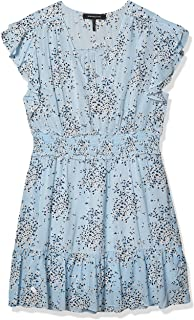 BCBGMAXAZRIA Women's Floral Ruffled Mini Dress