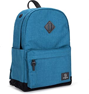"""SEVENTEEN LONDON Westminster - Modern Unisex Backpack with a Black Faux Suede Base in a Classic Simple School Design - Fits Laptop up to 15.6"""", Teal (Turquoise) - Westminster"""