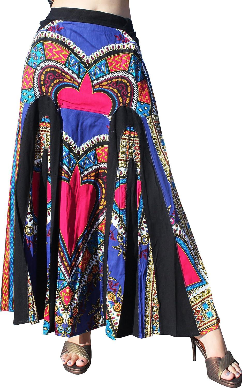 RaanPahMuang African Heart Dashiki Elastic Elegant Flowing Sale item Long Sk Waist