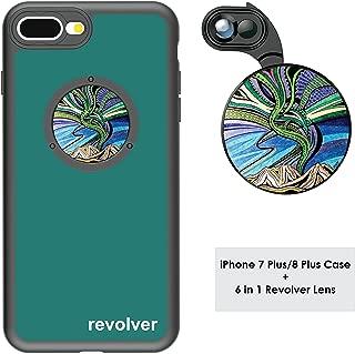 Ztylus Designer Revolver M Series Camera Kit: 6 in 1 Lens with Case for iPhone 7 Plus / 8 Plus - 2X Telephoto Lens, Macro, Super Macro Lens, Wide Angle Lens (Aurora Borealis)