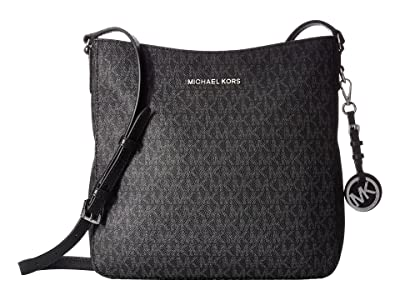 MICHAEL Michael Kors Jet Set Travel Large Messenger (Black) Messenger Bags