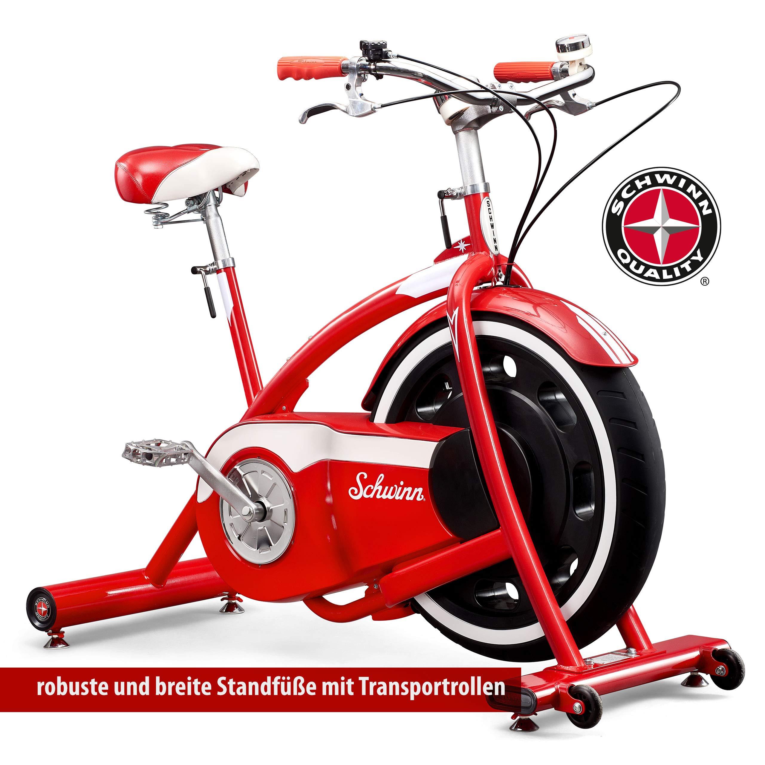 Schwinn – Bicicleta estática Classic Cruiser Unisex, Rojo, One ...