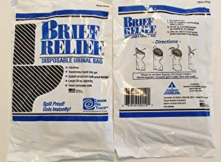 Men and Women Brief Relief Disposable Urinal Bag (10 Pack)
