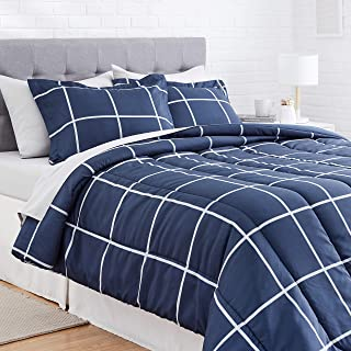 AmazonBasics 7-Piece Microfiber Bedding Set for Queen Bed (Includes 1 bedsheet, 1 Comforter, 4 Pillowcases, 1 Fitted Sheet...
