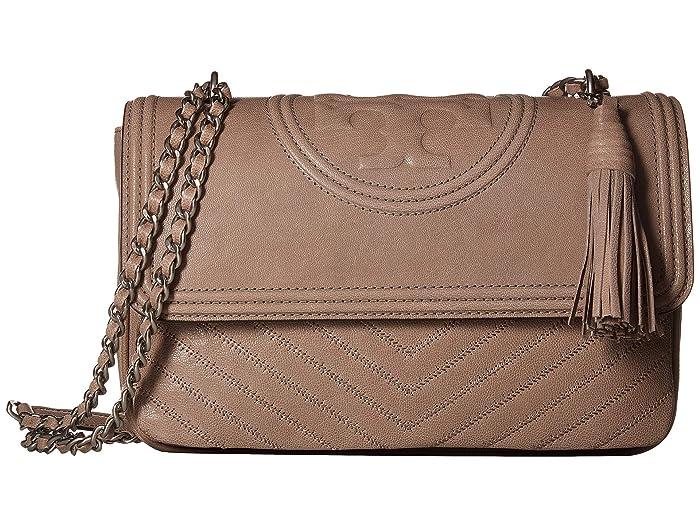 3f2fd3f4d8f4 Tory Burch Fleming Distressed Flap Shoulder Bag at Zappos.com