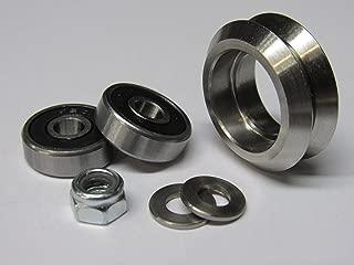 Metal Dual V Wheel Kit (12 Pack) for Steel V Track, V Groove Linear Guide Rail, CNC Machine, Laser Engraver, 3D Printer