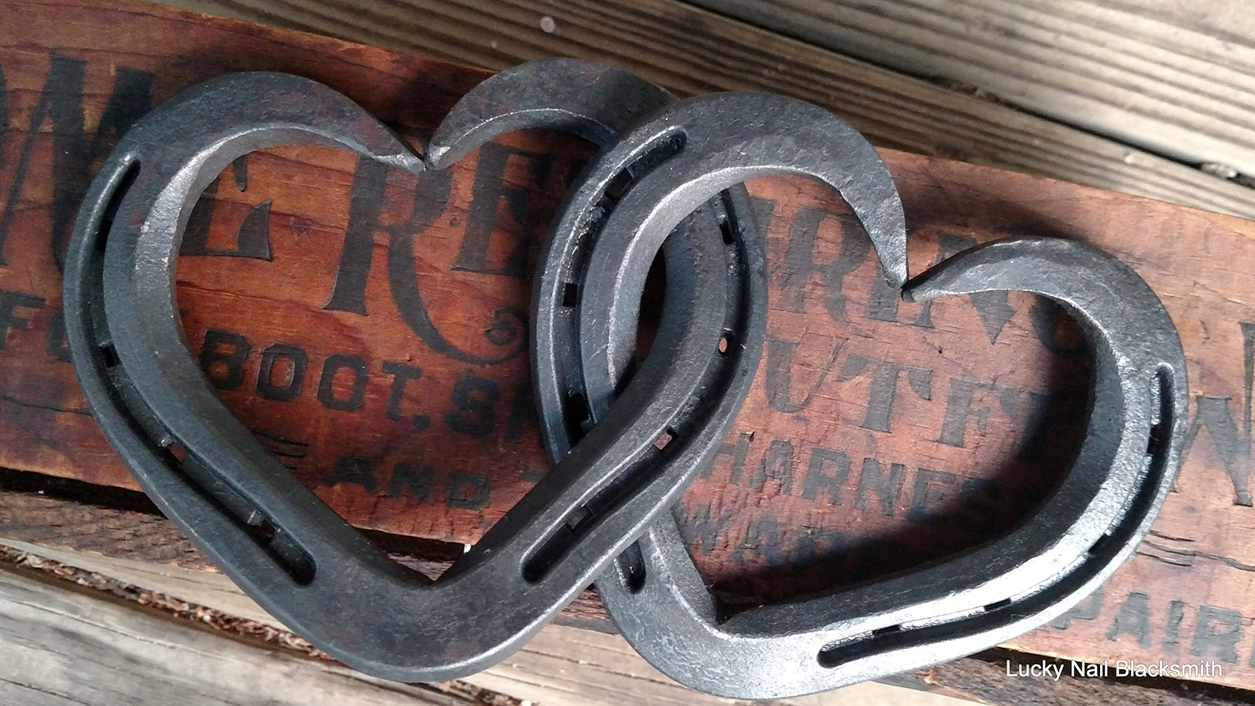 Intertwined Horseshoe Hearts - hanging wall or decor - Standard size 3 shoes  sc 1 st  Amazon.com & 6th Anniversary Gifts for Her: Amazon.com