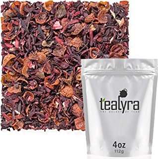 Tealyra - Hibiscus and Rosehips - Herbla Loose Leaf Tea - Health Tonic - Natural Weight Loss - Supports Hea...