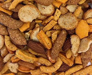 Spicy Snack Mix. Crunchy Bar Food, Blend of Cheese Crackers, Cajun Corn Sticks, Almonds, Rice Crackers etc. Great Party Sn...