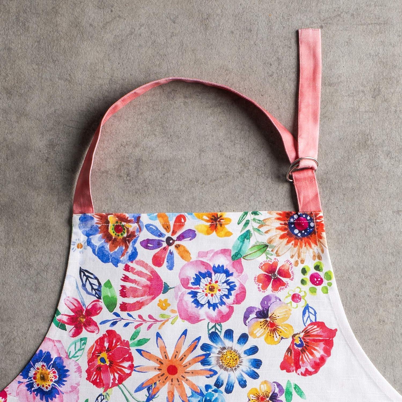 Maison dHermine Blossom in Spring 100/% Baumwolle 1-teilige K/üchensch/ürze mit verstellbarem Hals versteckter Mitteltasche mit Langen Krawatten f/ür Frauen M/änner 70 cm x 85 cm Fr/ühling//Sommer