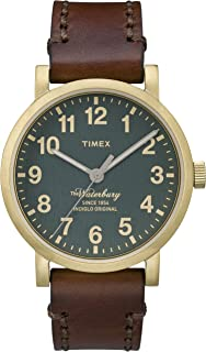 Timex Men's Waterbury TW2P58900 Brown Leather Analog Quartz Fashion Watch