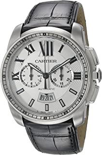 Cartier Mens W7100046 Analog Display Automatic Self Wind Black Watch