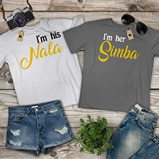 His-Nala Her-Simba Couple Lion Halloween Costume Matching Mr Mrs Wife Husband Pajamas Outfit Customized Handmade Hoodie/Sweater/Long Sleeve/Tank Top/Premium T-shirt