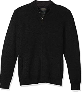 Men's Shetland Full Zip Cardigan Sweater
