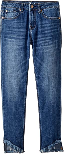 7 For All Mankind Kids The Ankle Skinny Jeans in Barrier Reef (Big Kids)