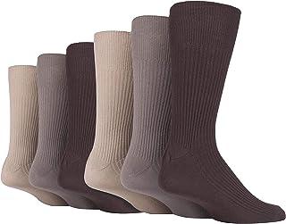 6 Pares Hombre Algodon Vestir Colores Calcetines sin Elastico 45-47 y 47-50