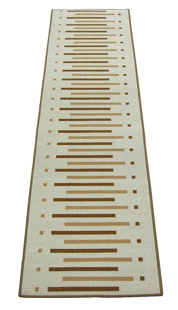 イタリアの欠かせないオーラルワタナベ工業 カーペット 廊下敷パレス 約67X180 ベージュ PS-6718