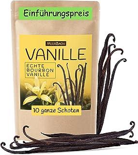 Echte Bourbon Vanilleschoten • 10 Vanille Schoten 16/18 • Vanilleschote aus Madagaskar • Vanille Schote für Creme Brulee und vieles mehr