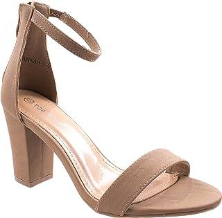 47173e7390a9 Top Moda Women s Hannah-1 Ankle Strap High Heel Sandal