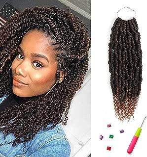 Spring Twist Crochet Hair T1B/30 Bomb Twist Crochet Hair 6 Packs Ombre Colors Synthetic Hair Extension Pre-looped Crochet Braids Hair(T1B/30)