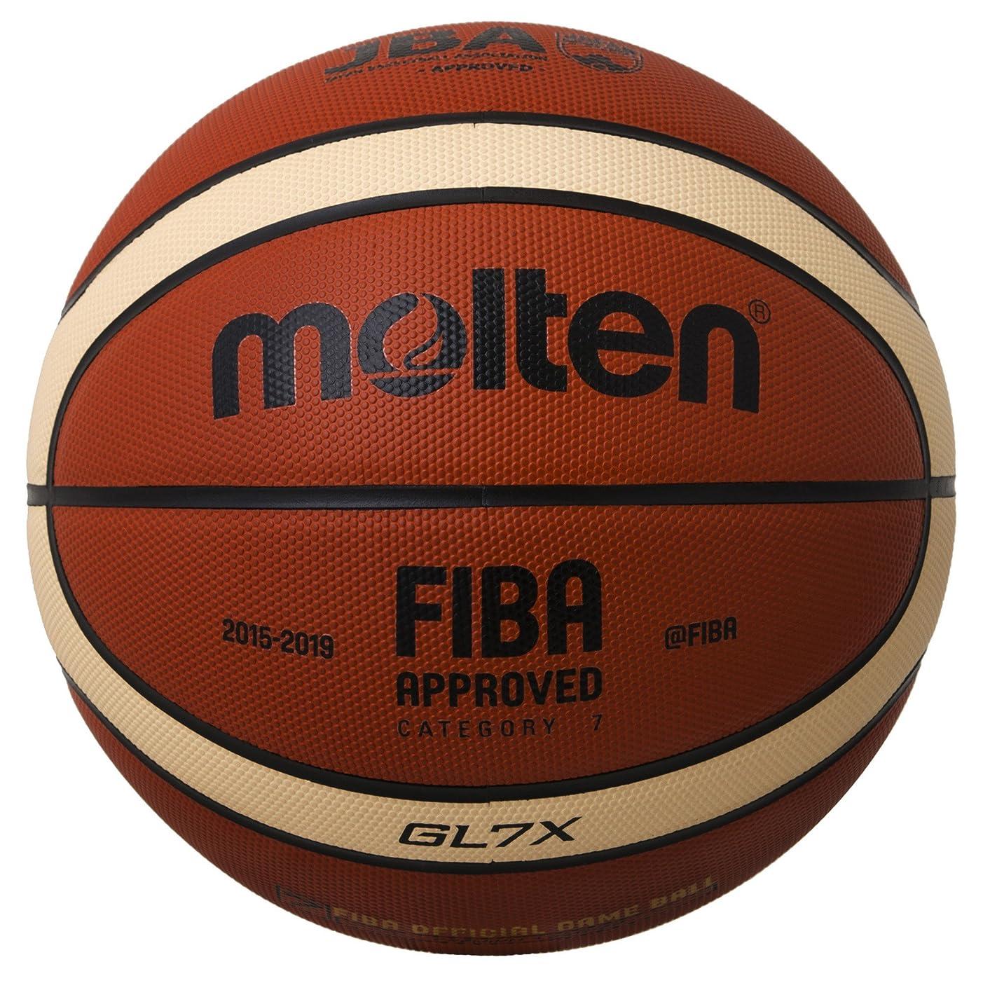 縫い目因子マラドロイトmolten(モルテン) バスケットボール  GL7X BGL7X オレンジ×アイボリー 7号球