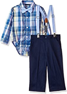 Boys Set with Shirt, Pant, Suspenders, and Bow Tie